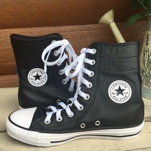 Leather hi-top Converse